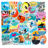 50 PCS  Surfing Stickers High Quality  WITH  FREE Bracelet
