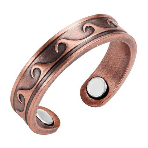 Resizable Magnetic Women Wave Ring
