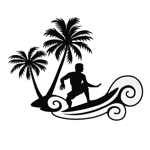 Surfing Palm Tree