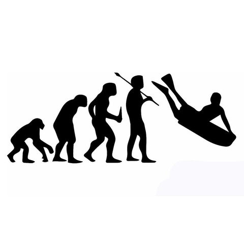Human Bodyboard Evolution Sticker