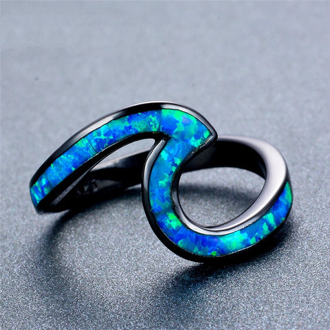 Beach Wave Rings