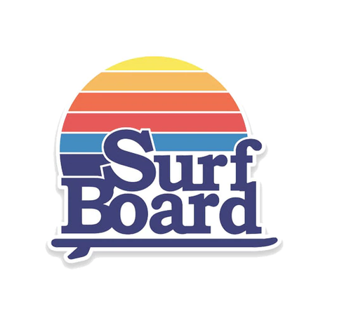 Surf Board Sticker