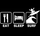 EAT SURF SLEEP REPEAT STICKERS