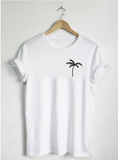 Palm Tree Shirt-Unisex! For Men or Women Shirt Cute Tee Simple Graphic Nature Tropical Pineapple