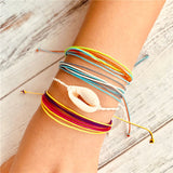 Multilayer  Bracelet Set for Women Men Adjustable Wave