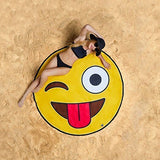 Donut Pizza Pineapple Large Round  Beach Towel