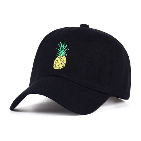 Pineapple Embroidery Baseball Cap