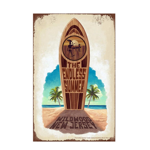THE ENDLESS SUMMER  SURFBOARD Wall Art