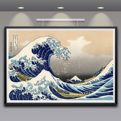 Artwork Wave Off Kanagawa Views Of Mount Fuji Poster