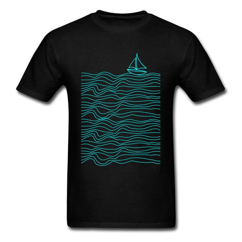 Sail Boat and Waves T-shirt