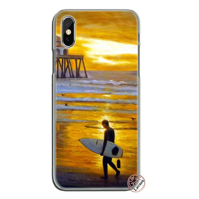 the best attitude 0bfc9 5d5b7 surfboard art surf Girl Hard Phone Case for Apple iPhone XS Max XR X ...