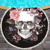 Skull Printed Beach Towel