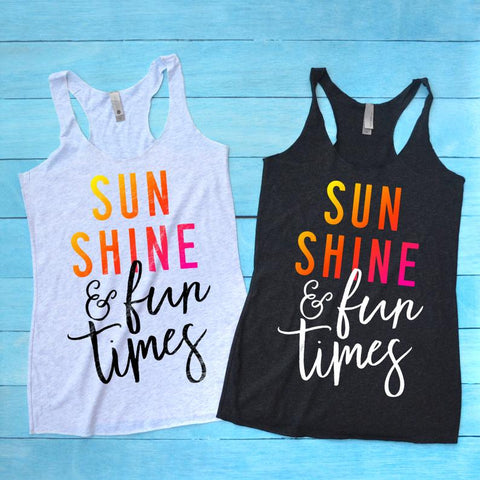 Sunshine  Tank Top,  Shirt, Summer Vacation Shirt, Cruise Shirt, Aloha Beaches Shirt
