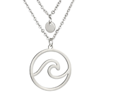 Wave Necklace Silver For Women