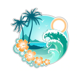 Tropical Islands Hawaii Sticker