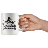Surfing Gets Me Wet Mug