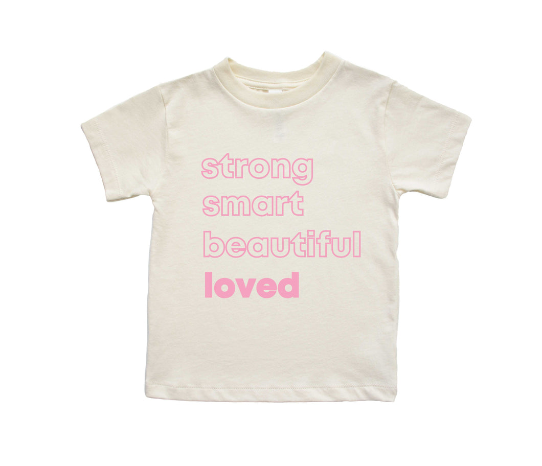 Loved Affirmations | Kids Natural Tee
