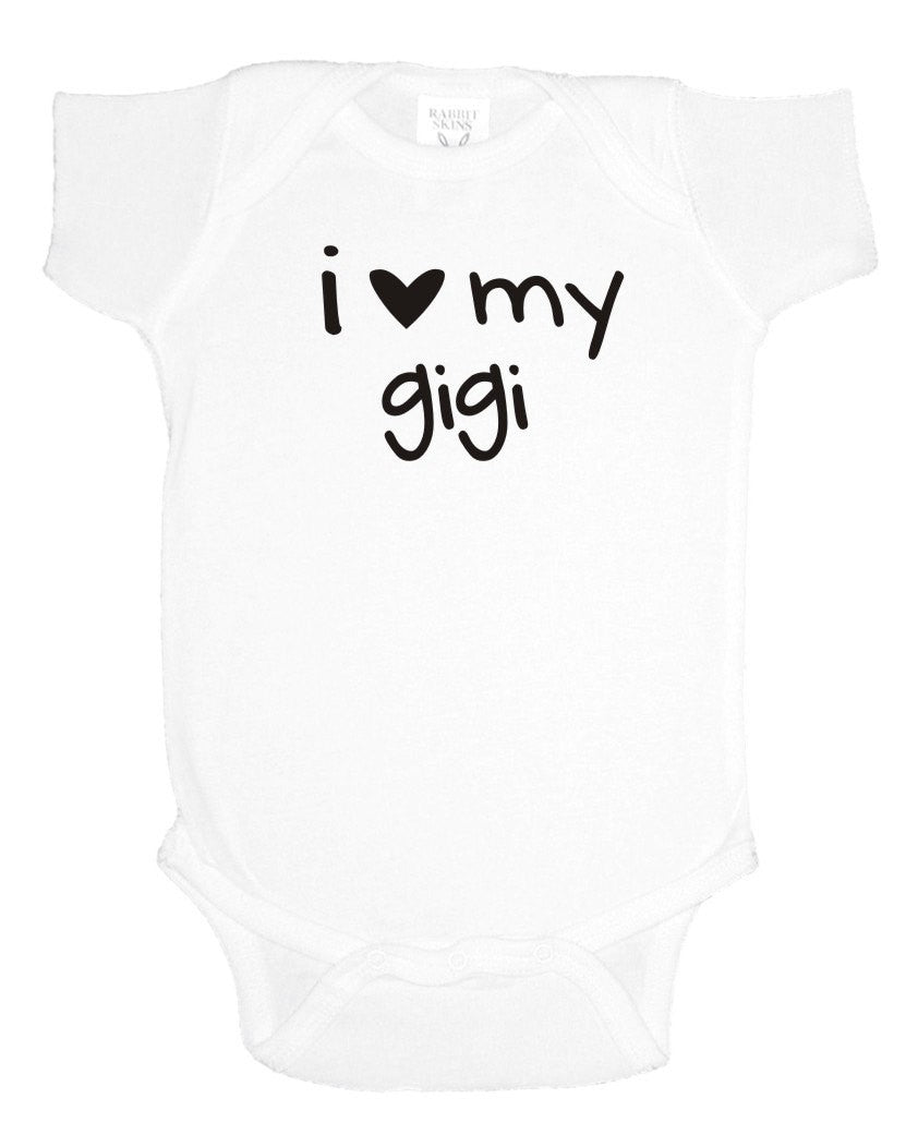 I Love My Gigi Baby Bodysuit