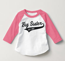 Big Sister Raglan Personalized with Year