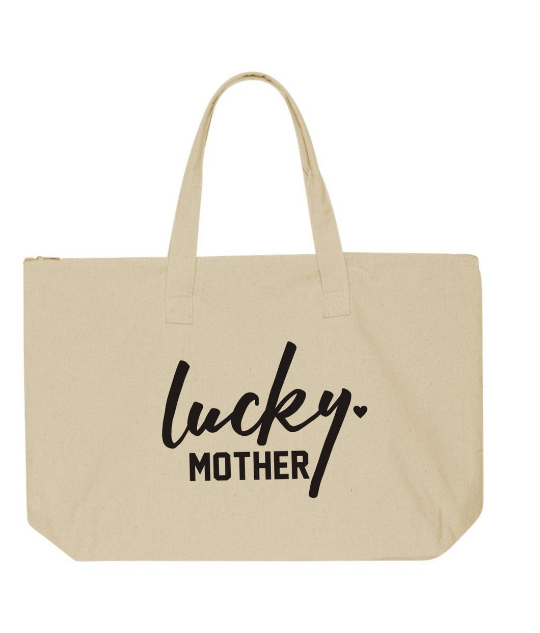 Lucky Mother Zipper Tote Bag | Beach Bag | Hospital Bag