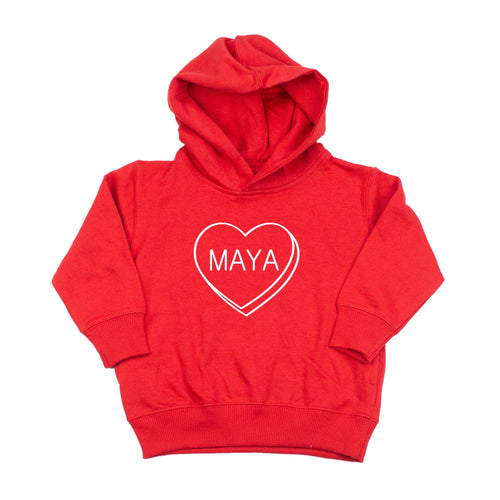 Personalized Candy Heart Hoodie