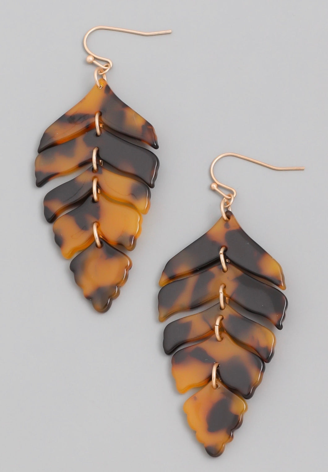 Gemma Leaf Drop Earrings