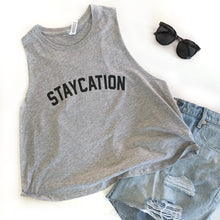 Staycation Racerback Cropped Tank