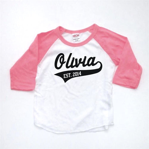 Personalized Name Baseball Tee