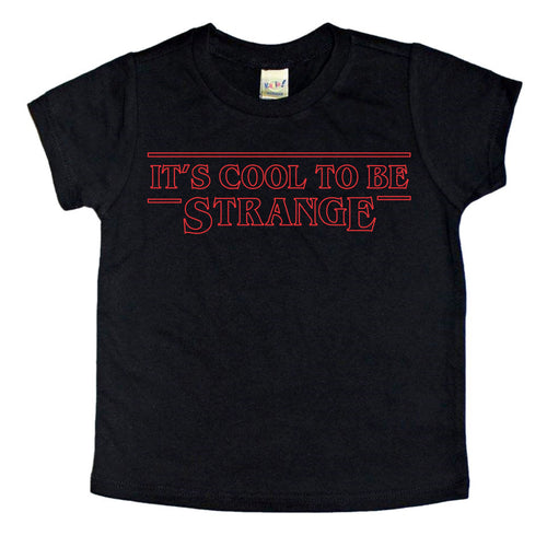 It's Cool To Be Strange Kids Black Tee