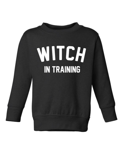 Witch in Training - Girl's Crewneck Pullover