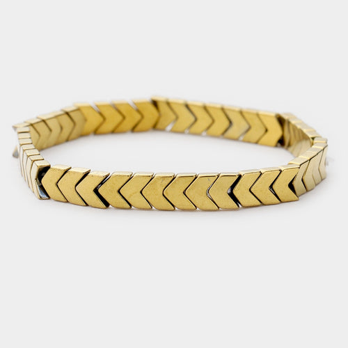 Chevron Gold Stacker Bracelet - 1 piece