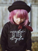 Wild Is Her Style - Girl's Crewneck Pullover