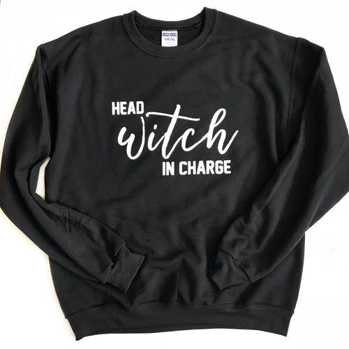 Head Witch in Charge Black Pullover