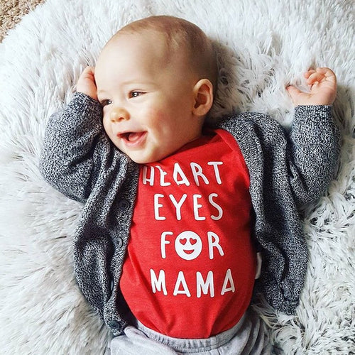 Heart Eyes for Mama Infant Bodysuit or T-Shirt
