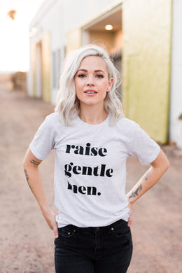 Raise Gentle Men White Fleck Triblend Tee
