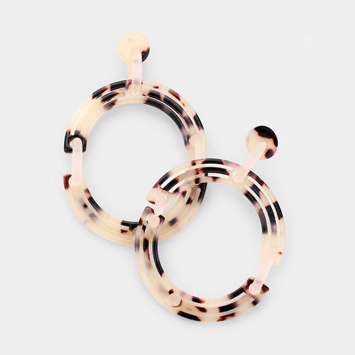 Layla Acetate Circle Earrings