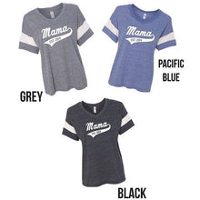 Mama V-Neck Football Tee with Personalized Year