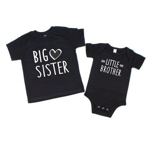 Big Sister and Little Brother Shirt or Bodysuit Set