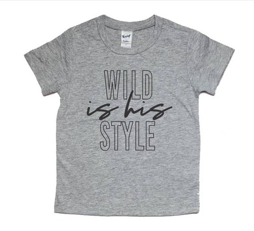 Wild is His Style - Boy's Crewneck T-Shirt