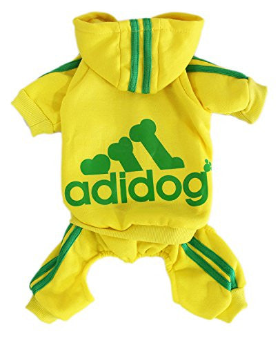 Winter Hooded Sweatshirt for Small Dog (S, Yellow)