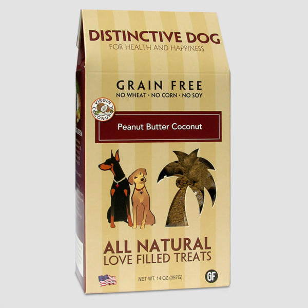 Peanut Butter Coconut Grain-Free Dog Treats