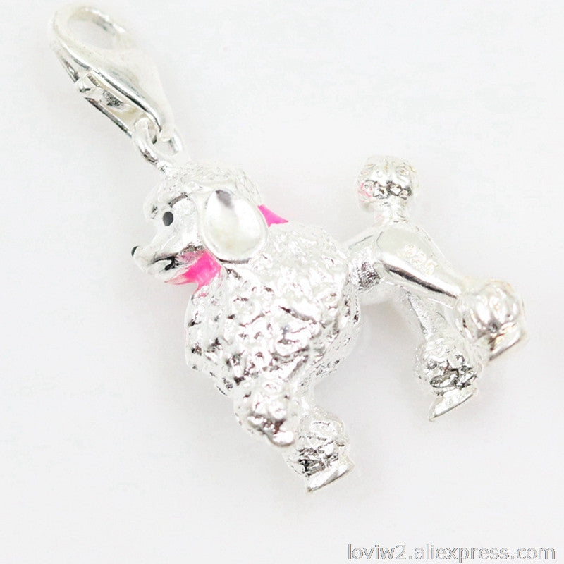 Silver Poodle Dog Charm