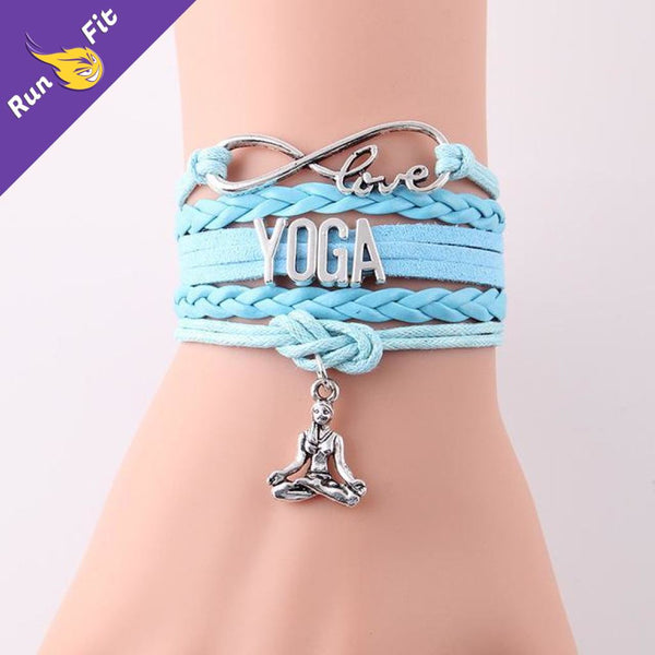 Bracelet Love Yoga 10 - 20 Bleu Ciel Fitness Habillage