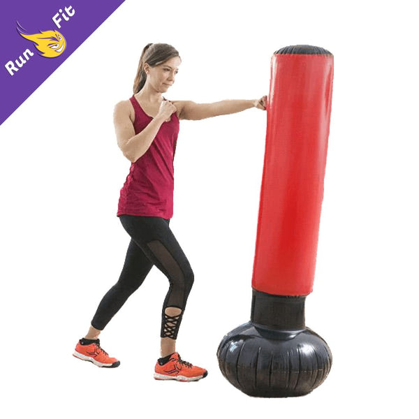 Sac De Frappe Gonflable Frappe 20 - 50 Boxe Entraînement Fitness And Exercise Equipment Rouge