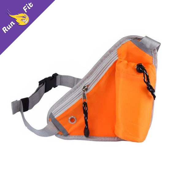 Sac Triangle De Running Ceinture - 10 Bleu Ciel Orange