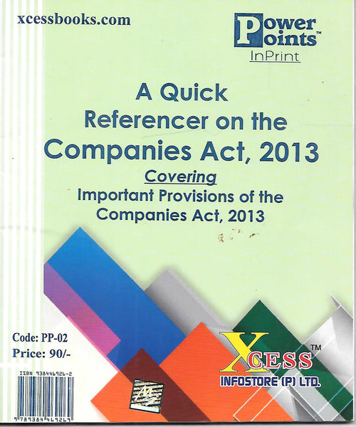 A Quick Referencer on the Companies Act, 2013