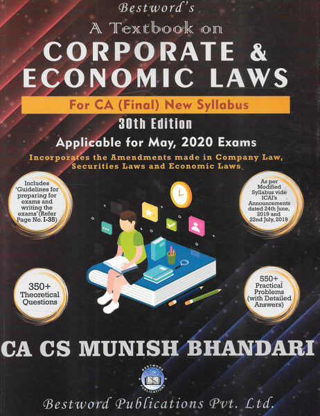 A Textbook on Corporate and Economic Laws - CA Final - New Syllabus