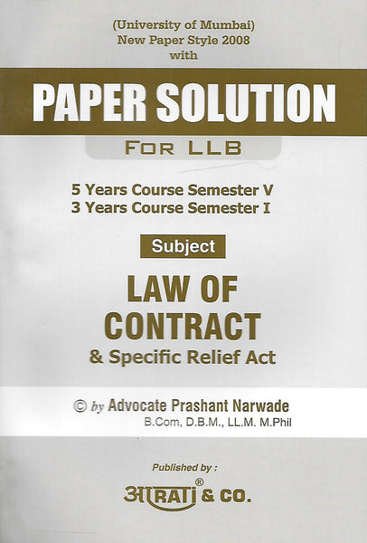 Paper Solution Law of Contract