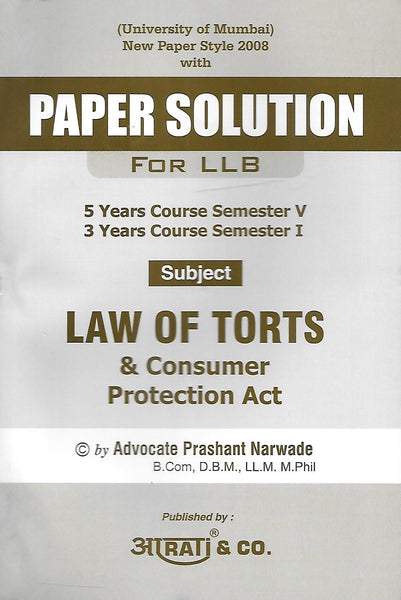 Paper Solution Law of Torts