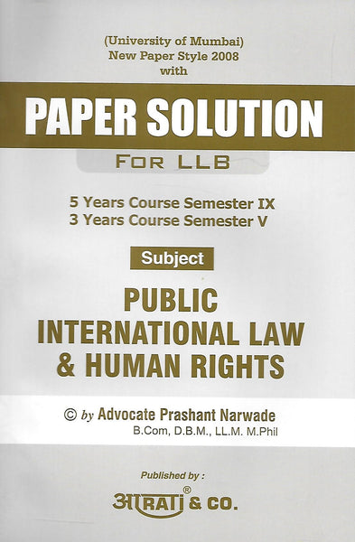Paper Solution Public International Law & Human Rights